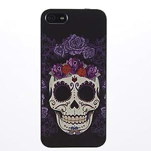 TY-Patrón de la cara sonriente de Skeleton PC caso duro para el iPhone 5/5S