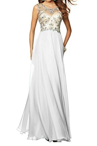 Beliebt A Ivydressing Rueckenfrei Damen Abendkleid Linie Weiß Steine Promkleid Festkleid xvxqtwF5S