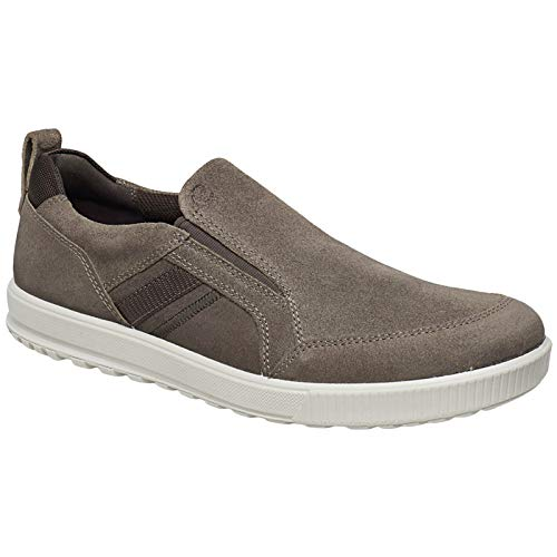ECCO Mens Ennio Suede Espresso Trainers 10-10.5 US (Ecco Mens Ennio Retro Lace Fashion Sneaker)