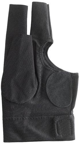 (Pro Series Padded Fingerless Billiard Gloves, Black, Small)
