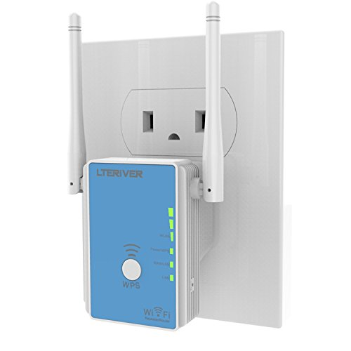 LTERIVER 802.11 N 300Mbps WiFi Repeater WiFi Range Extend...