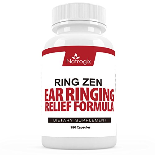 RingZen Natural Tinnitus Relief (60 Veggie Capsules) Supplement, Effective Ear Ringing Help And Support, Stop The Ringing In Ears Formula