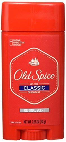 Old Spice Classic Deodorant Stick, Original 3.25 oz (Pack of 3)