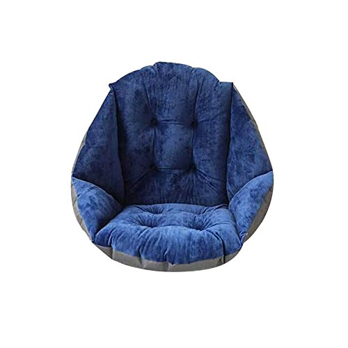 412krvjtCfL - TRIEtree-Plush-Dining-Chair-Cushion-Student-Thickening-Warm-Cushion-Office-Waist-Cushion-Computer-Game-Chair-Cushion-Navy-Blue