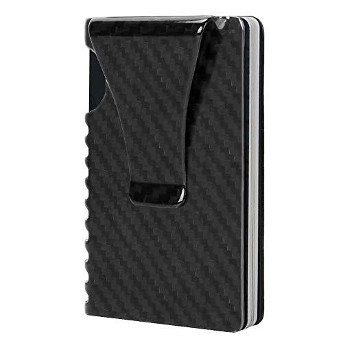 Money Clip, Slim Wallet-EGRD Carbon Fiber Front Pocket Minimalist Wallet For Men