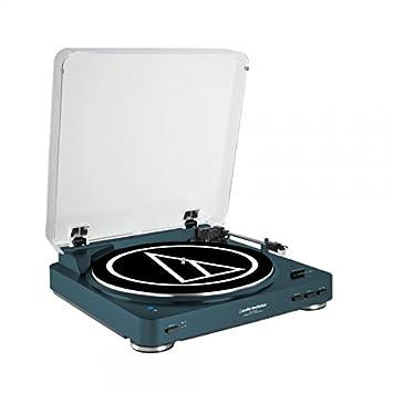 Audio-Technica AT-LP60NV-BTBL - Tocadiscos estéreo de transmisión por Correa Totalmente automático, Color Azul