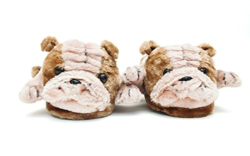 50+ Stilar - Premium Fullt Fot Happy Feet Mens Och Kvinna Djur Tofflor Bulldogg - Storsäljare