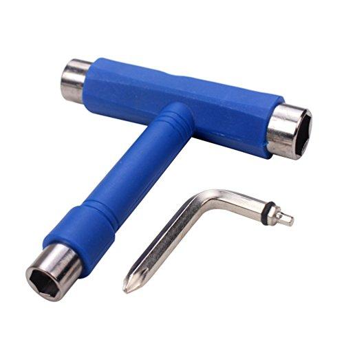 Sunwin Blue Skate Tool Skateboard Tool T-tool Metal All In One Tool