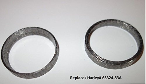 Orange Cycle Parts Tapered Exhaust Gaskets Pair (2) For Harley Big Twin 1984-2019/1986-2019 Sportster XL/Will NOT WORK on V-ROD repl. # 65324-83A - Graphite Steel Rod