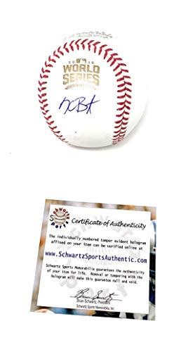Kris Bryant Chicago Cubs Signed Autograph Official MLB World Series Baseball Schwartz Sports Authentic - Mlb Signed Chicago Baseball Cubs