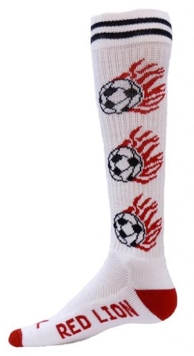 Red Lion White Heat Soccer Ball