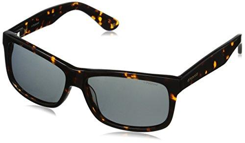 Polaroid Sunglasses Men's X8421S Polarized Rectangular Sunglasses, Dark Havana & Gray, 59 mm/15 mm/140 - 59 Polaroid