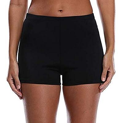Tournesol Women's Swim Shorts High Waist Boy Shorts Boardshorts Beach Bikini Tankini Swimwear Boy Leg Bottoms