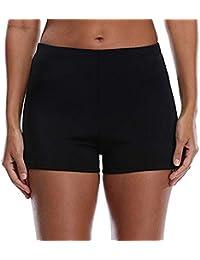 1ca5ce25bf Women's Swim Shorts High Waist Boy Shorts Boardshorts Beach Bikini Tankini Swimwear  Boy Leg Bottoms