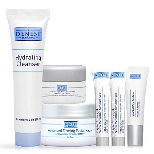 Dr. Denese Facial Skin Care Starter Kit | Anti-Aging Wrinkle Repair | Ultimate Moisturizing & Hydration | Glowing & Youthful Skin | Ideal for Dehydrated, Lackluster, Skin With Fine Lines & Wrinkles