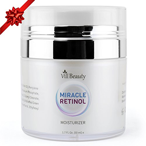 And Face Lines Wrinkles (Upgraded Face Moisturizer, Miracle Retinol Moisturizing Face Cream, Anti Aging Formula Reduces Wrinkles, Fine Lines, Daily Face Moisturizer for Dry Skin, Best Daily Face Moisturizer for 2018)