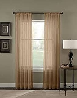 Gorgeous Home 1PC TAUPE TAN MOCHA SOLID SOFT VOILE SHEER WINDOW CURTAIN PANELS ROD POCKETS DRAPES