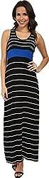 Calvin Klein Women's Rayon Span Maxi CD4N3HER Aegean Multi Dress 8