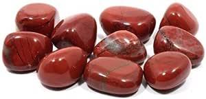 CrystalAge - Piedra de jaspe pulida de color rojo (20-25 mm)