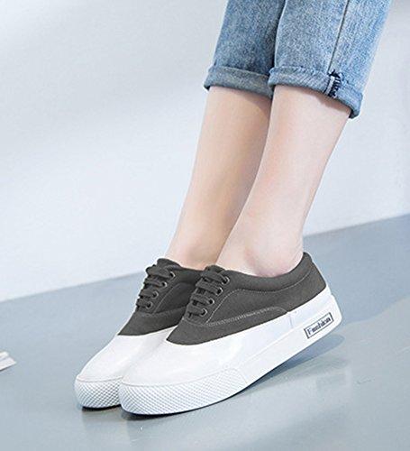 Aisun Womens Casual Ronde Neus Lage Top Dikke Zool Slip Op Plat Platform Mode Sneakers Schoenen Olijf