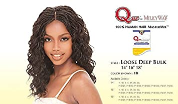 Amazon que loose deep bulk 18 milkyway que human hair que loose deep bulk 18quot milkyway que human hair mastermix weave extensions 1 pmusecretfo Gallery