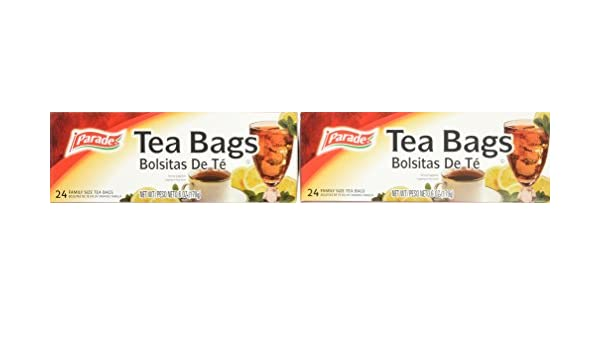 Parade Family Size Tea Bags, 24 Count (Pack of 12): Amazon.com: Grocery & Gourmet Food