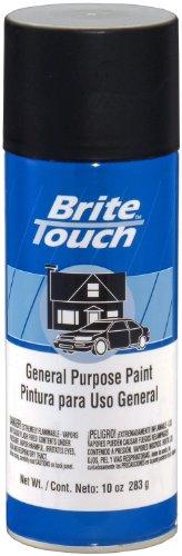 Brite Touch (KBT000437-6 PK Flat Black Automotive and General Purpose Paint - 10 oz. Aerosol, (Case of 6)