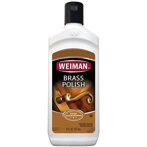 Weiman Brass and Copper Polish and Cleaner - 8 Ounce - Gently Clean and Remove Tarnish Without Scratching