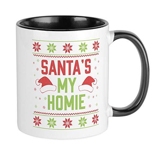 (CafePress Santa's My Homie Unique Coffee Mug, Coffee)