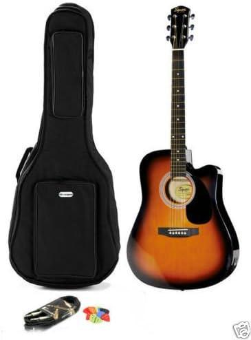 Guitarra acústica electrificada Fender Squier SA-105CE SunBurs + ...