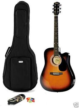 Guitarra acústica electrificada Fender Squier SA-105CE SunBurs + bolsa con correa + accesorios