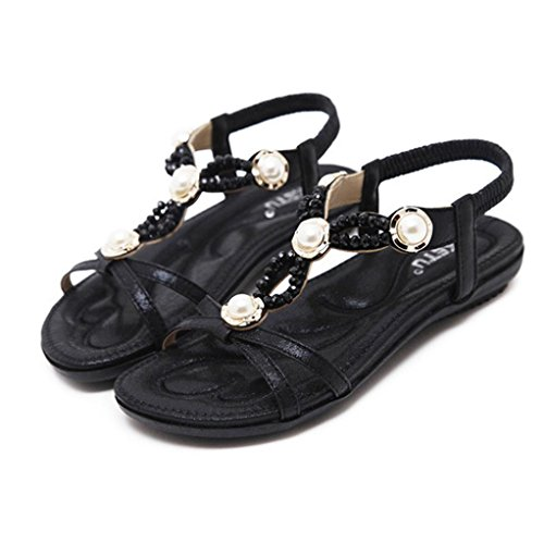 Lolittas Summer Diamante Wedge Sandals for Women,Glitter Sparkly Jewelled Low Heel Ankle Strappy Peep Toe Wide Fit Slingback Outdoor Shoes Size 2-9 Black