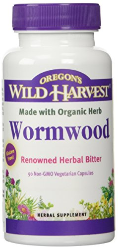 Oregon's Wild Harvest Wormwood Organic Herbal Supplement, 90 Count