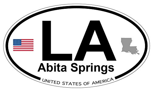 Abita Springs, Louisiana Oval Sticker