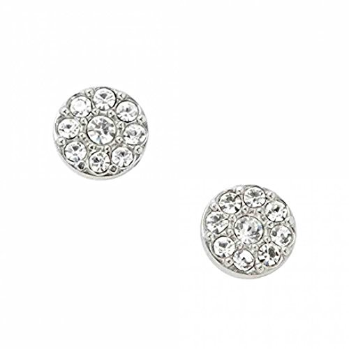 (Fossil Disc Silver-Tone Studs JF00828)