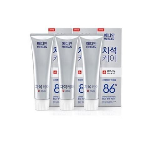Median Advanced Tartar Toothpaste 86  Scaler White 120Gx3bottle  4 2Ozx3bottle  Amore Pacific By Median