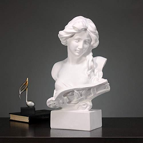MAFYU Regalo Di Festa Simple Mujer Piano Resina Manualidades Adornos Salón Xuan Guan Escritorio Obras De Arte 27 * 20 * 47. 5 Cm