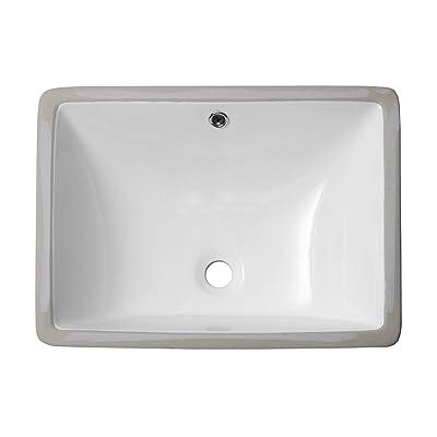 Buy Undermount Bathroom Sink Rectangular Sarlai 20 Vessel Sink Rectrangle Undermount Bathroom Sink Pure White Porcelain Ceramic Lavatory Vanity Vessel Sink Online In Indonesia B07mq4plhz
