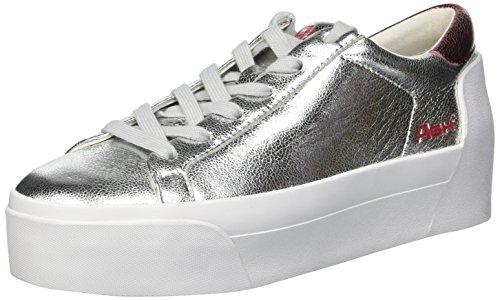 Ash Women's AS-Boogie Bis Sneaker Silver/Metal Rock red, 37 M EU (7 US) ()