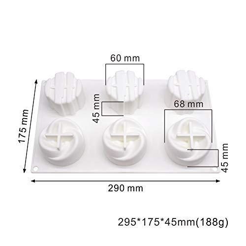 Molde de Silicona 3D moldes de silicona para postres 6 cavidades Forma de cubo de dos en una diosa