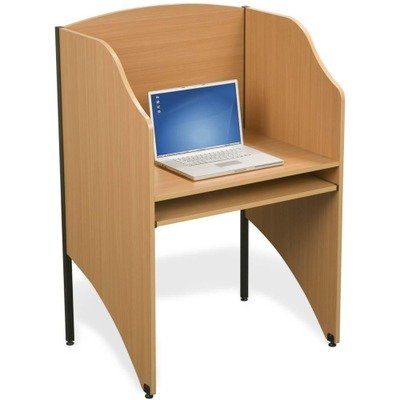 Deluxe Floor Carrel - Balt 89868 Deluxe Starter Floor Carrel Workstation, 48