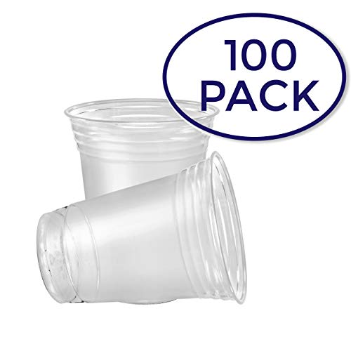 SOLO Cup Company Plastic Party Cold Cups, 16 oz, Clear, 100 pack ()