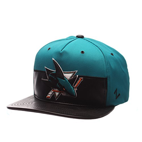 NHL San Jose Sharks Men's Anarchy Snapback Hat, Adjustable, Gray/Black (Jose Hats San)