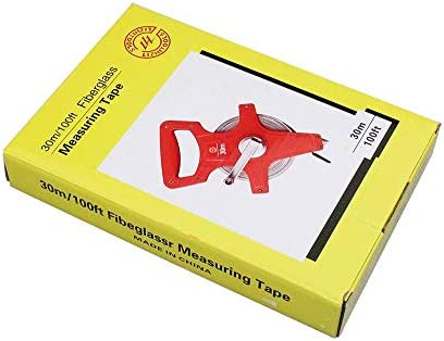 Fiberglass Tape Measure, 1PC 30M/100Ft Open Reel Fiberglass Tape Measure inch Metric Scale Impact Resistant ABS Measure Tools