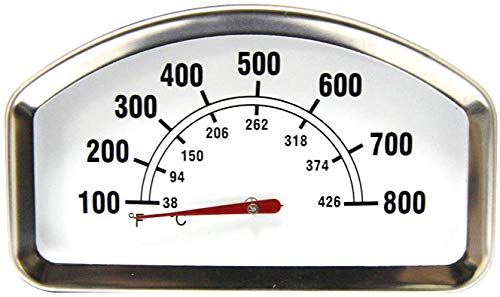 Mr. KAN HIO13 3.375 Inches Larger Face 800F Grill Heat Indicator Thermometer Replacement for Brinkmann, Master Cook, Sonoma, Tuscany Grill
