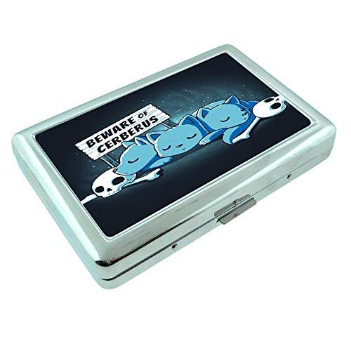 (Cerberus Guard Em1 Hip Silver Cigarette Case Id Holder Metal Wallet 4