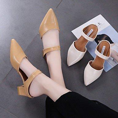 LvYuan-ggx Damen High Heels Moderne Moderne Moderne PU Sommer Lässig Alltäglich Moderne Blockabsatz Beige Braun 2,5 - 4,5 cm  eadbc2