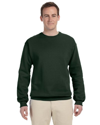 Fruit of the Loom 12 oz. Supercotton™ 70/30 Fleece Crew (82300)- FOREST GREEN,XL (Fruit Of The Loom Ribbed Sweatshirt)