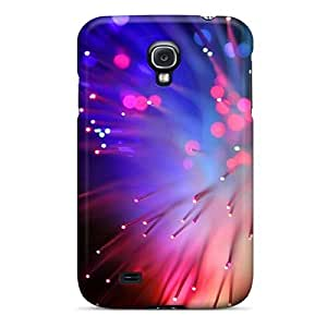 Galaxy S4 Case Cover - Slim Fit Tpu Protector Shock Absorbent Case (fiber Optics)