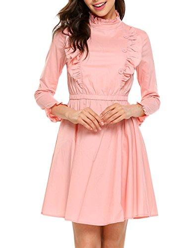 Pink Ruffled Dress - 7